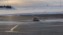 450-pound seal removed from Alaska airport runway on a sled