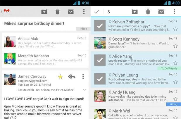 Gmail for Android update brings cleaner conversation view and improved multi-select