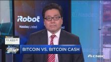 In the battle between bitcoin and bitcoin cash, Tom Lee s...