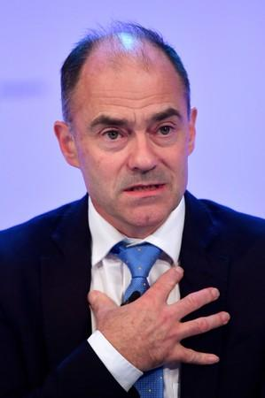 FILE PHOTO: Warren East, CEO of Rolls Royce, speaks at the Confederation of British Industry's (CBI) annual conference in London