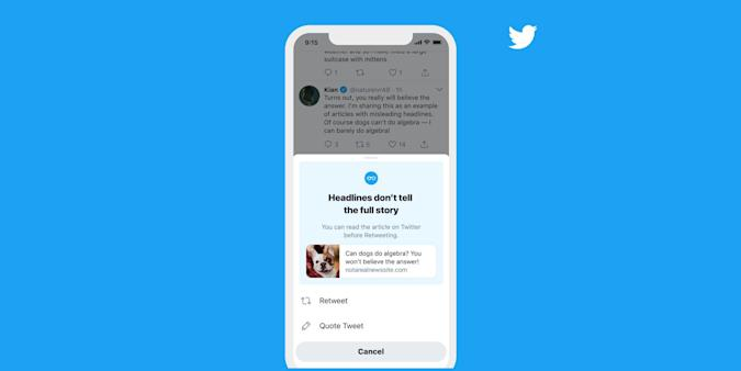 Twitter read before sharing ios