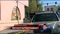 Two shot, one killed outside Boston drug store