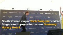 K-pop idol Sung-jae promotes new Samsung phone in Singapore