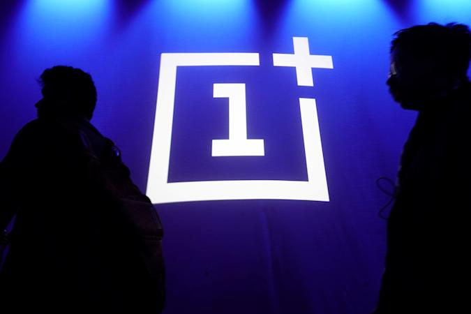 The OnePlus logo is projected onto a wall during a launch event for the new OnePlus 6T in the Manhattan borough of New York, New York, U.S., October 29, 2018. REUTERS/Carlo Allegri