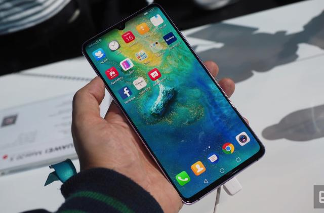 Huawei unveils giant Mate 20 X phone, regular-sized wearable