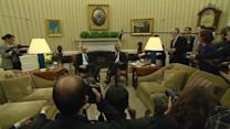 Obama meets with Ukraine's PM, shows support