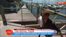 Harry and Meghan arrive at Hervey Bay