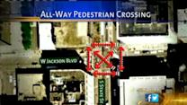 Loop intersection tests all-way pedestrian crossing at State and Jackson
