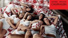 Kylie (embarazada) y las Kardashian posan para CK