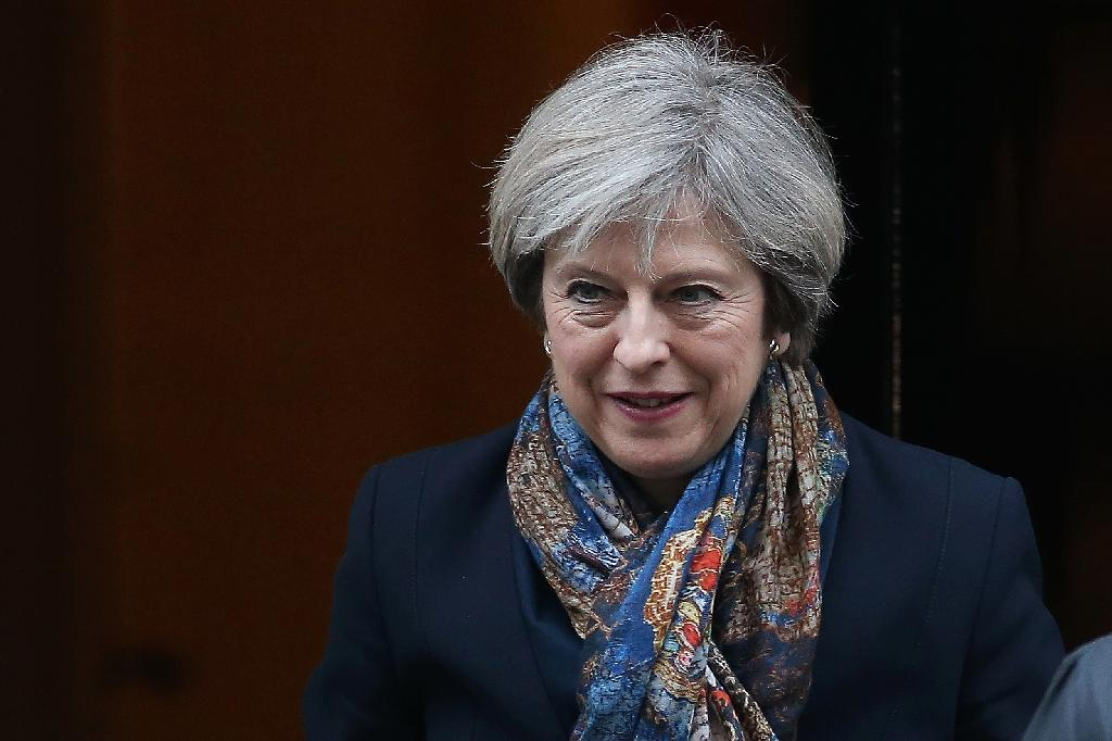 British Prime Minister Theresa May flies to the US on Thursday, meeting Republican leaders in Philadelphia before heading to Washington for talks at the White House Friday (AFP Photo/Daniel LEAL-OLIVAS)