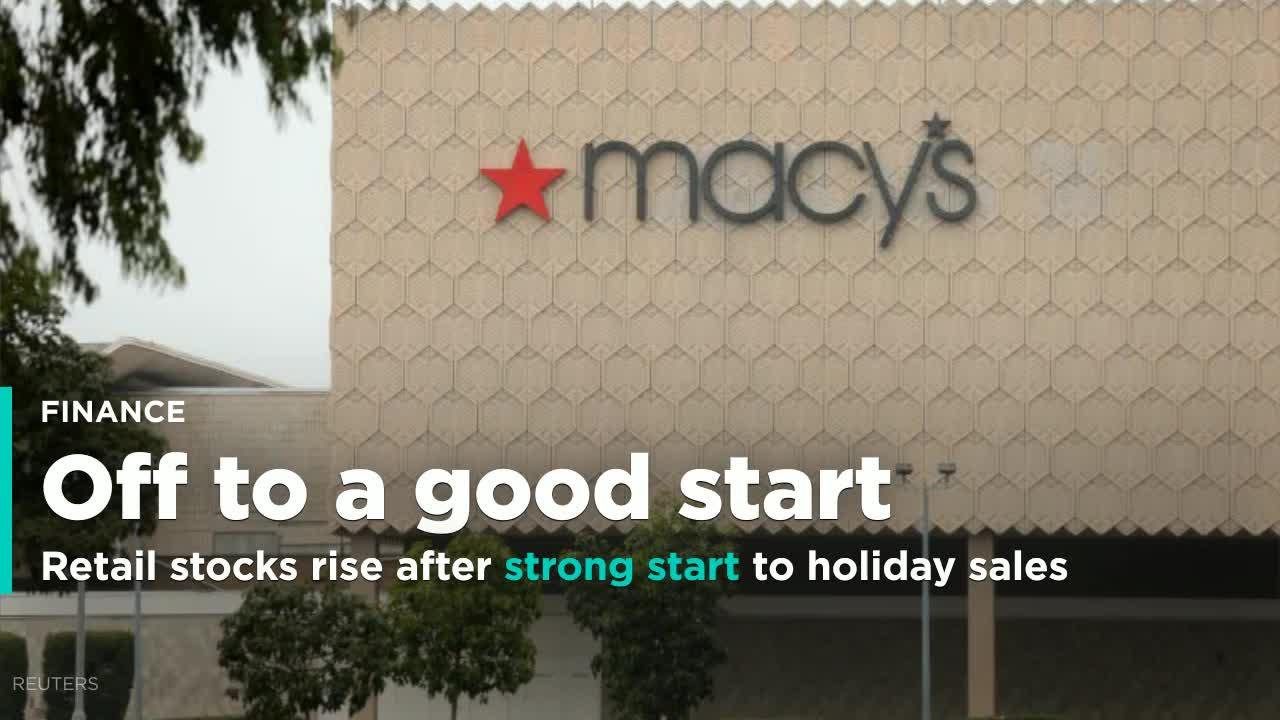 Retail stocks climb after strong start to holiday sales [Video]