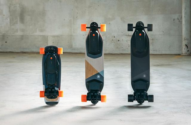 Boosted's 2018 line includes faster and shorter electric skateboards