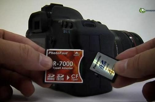 Video: PhotoFast CR-7000 SDHC to CF adapter takes on 5D Mark II, lives to burst about it