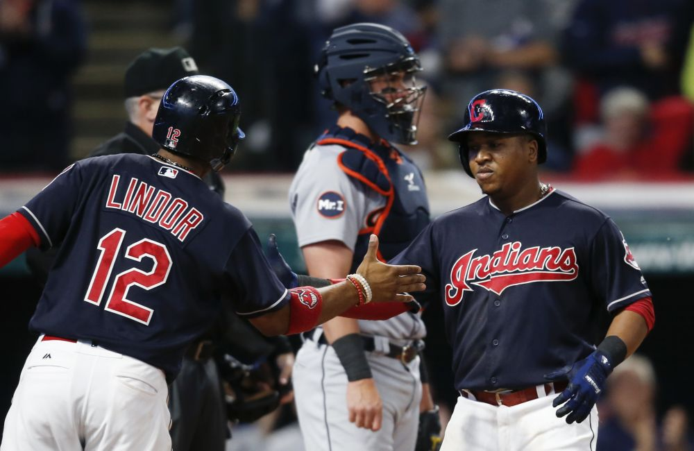 The Indians are co-favorites to win the World Series in the latest odds from Bovada. (AP)