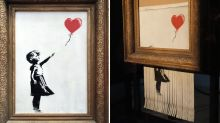 Banksy's 'director's cut' reveals auction sabotage didn't go to plan