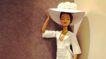 This man uses toilet paper to design couture-worthy wedding dresses for Barbie collection