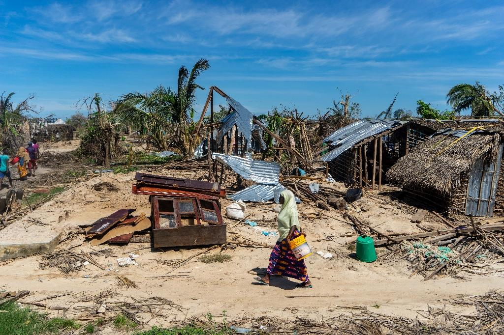 The island on the Quirimbas archipelago off Mozambique's northeastern coast was one of the regions worst hit when Cyclone Kenneth struck last month (AFP Photo/Zinyange Auntony)