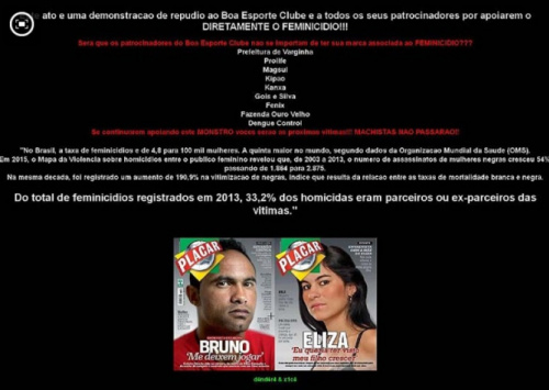 Site do Boa Esporte é invadido por hackers: 'Repúdio por apoiarem feminicídio'