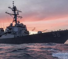 Rescue Ops On After US Navy Destroyer Collides With Merchant Ship