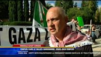 Tempers flare at rallies surrounding Israel-Gaza conflict