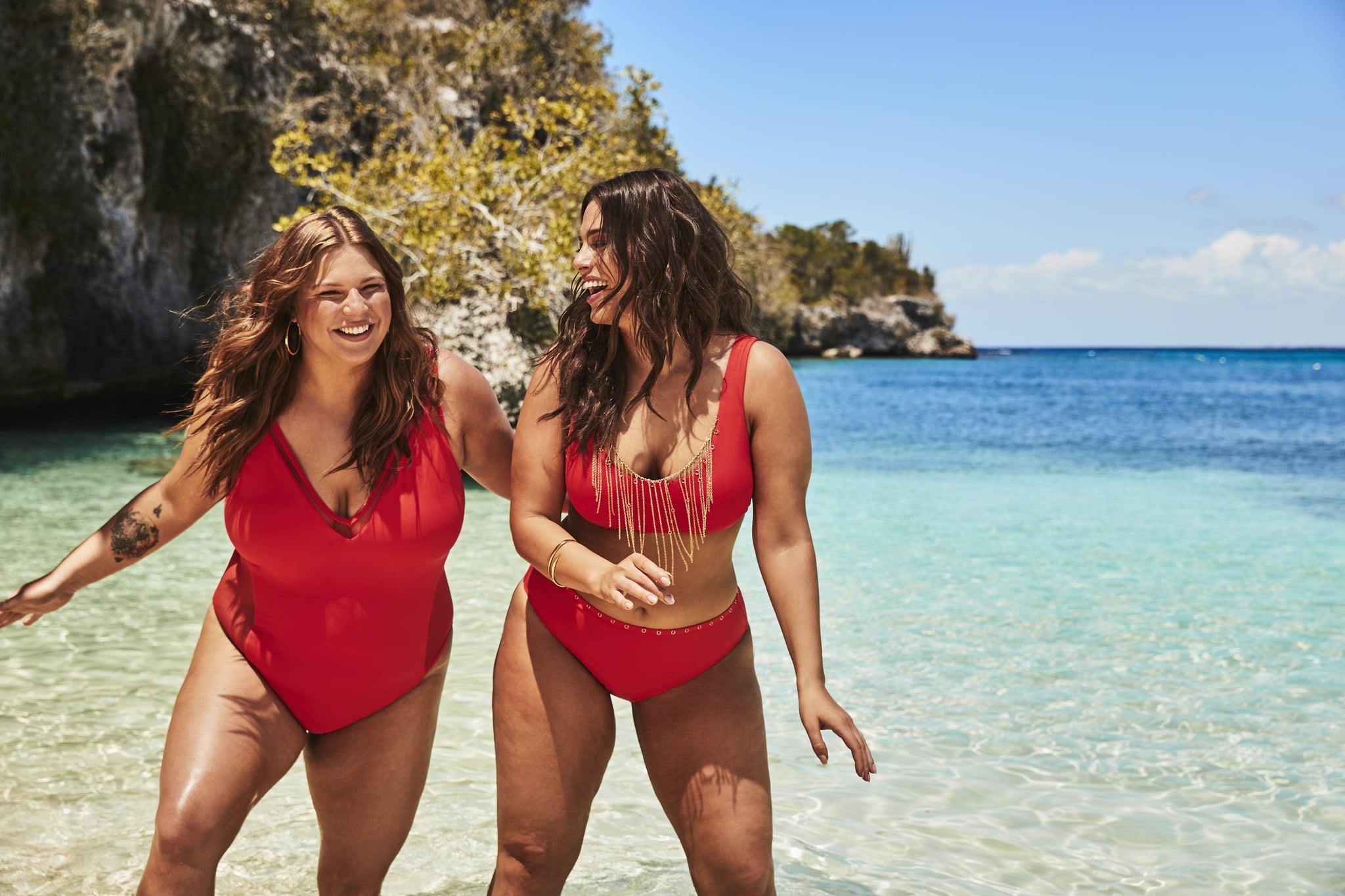 9e1c2f7d37d Ashley Graham's Sister Joins Her For a Swimsuit Campaign, and I Just Got  All Emotional