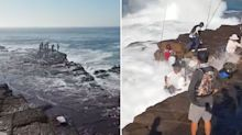 Group slammed for fishing on the rocks where fishermen died just days ago