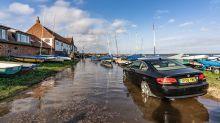 Submerged car in Burnham Overy