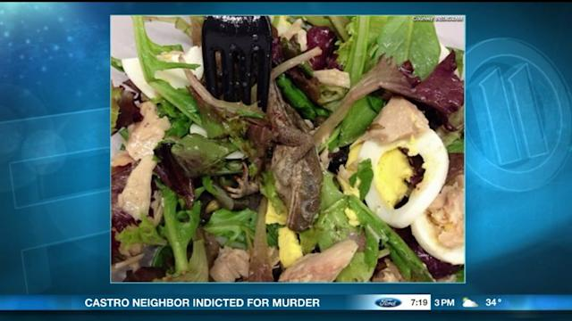 Woman Finds Dead Frog... On Her Salad?