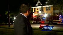 Firefighter injured when floor collapses