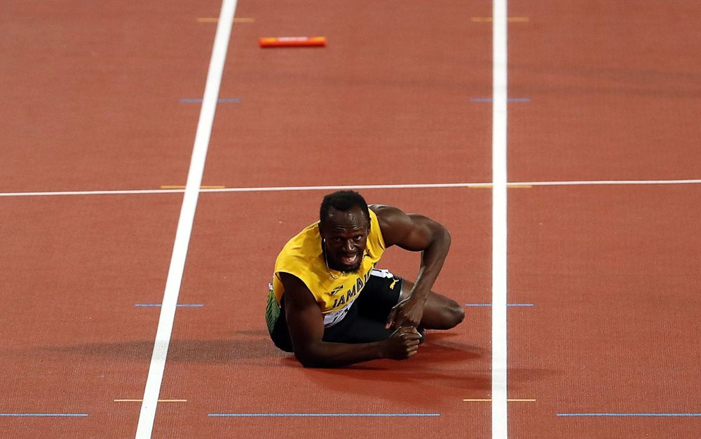 Usain Bolt has hit back at those doubting whether he was injured in his final ever race - EPA