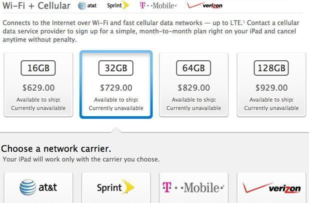 iPad Air and Retina iPad mini will support T-Mobile LTE, including 200MB of free monthly data
