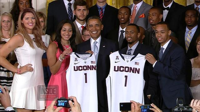 UConn Basketball Player Falls Off Stage At White House