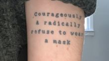 Woman's tattoo takes on new meaning amid pandemic: 'It's hysterically terrible timing'