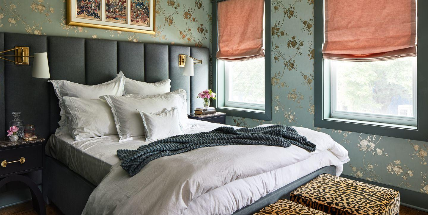 See How This Blah Bedroom Was Transformed Into a Boudoir-Inspired Retreat