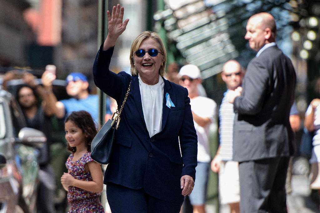 Democratic presidential nominee Hillary Clinton was diagnosed with pneumonia 48 hours ahead of a September 11 ceremony in New York, but chose to power through instead of resting, not resume campaigning until September 15, 2016 (AFP Photo/Brendan Smialowski)