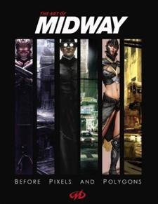 Concept art glued and bound in 'The Art of Midway'