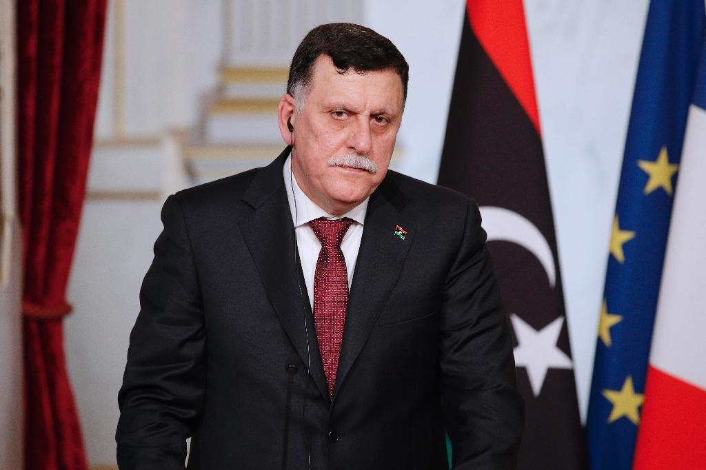 Libyan Prime Minister Fayez al-Sarraj's fragile unity government, formed following a UN-backed deal in December 2015, is backed by the international community (AFP Photo/Yoan Valat)
