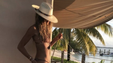Elle Macpherson praised as 'timeless beauty' after posing in bikini at 55