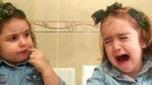 Desopilante video: la reacción de dos hermanitas ante la orden de su madre