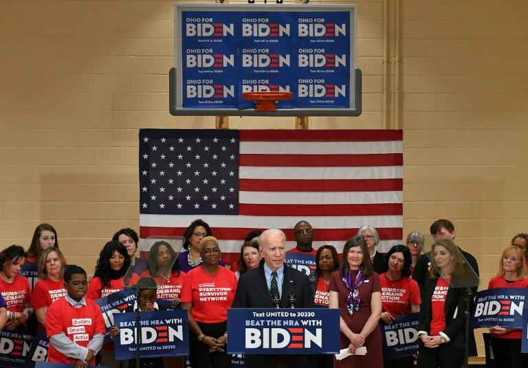 Joe Biden, here at a March 10, 2020 campaign stop in Columbus, Ohio, hopes to convince voters cast ballots for Democrats on November 3