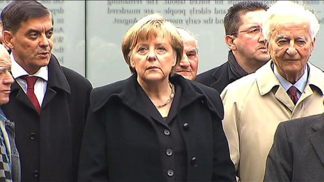 Merkel and survivors open Roma genocide memorial