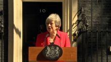 British PM Theresa May announces resignation