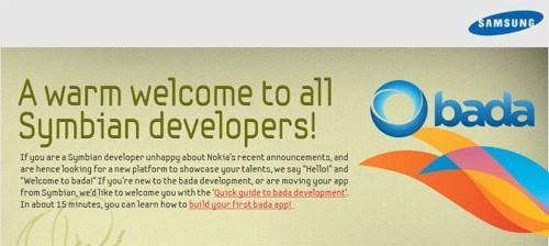Samsung tries its hand at poaching disgruntled Symbian devs for Bada