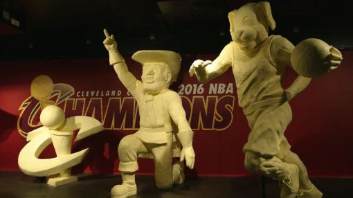 Butter sculpture offers Cavs fans new way to savor NBA title