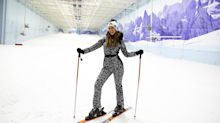 On the chairlift with... Strictly Come Dancing star and beginner skier Catherine Tyldesley