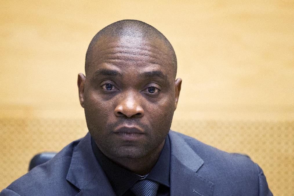 Katanga, pictured here in May 2014 at his trial at the International Criminal Court, is serving a 12-year sentence for war crimes and crimes against humanity (AFP Photo/HO)