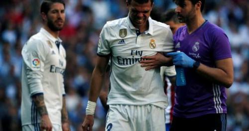 Foot - ESP - Real - Real Madrid : Deux côtes cassées pour Pepe