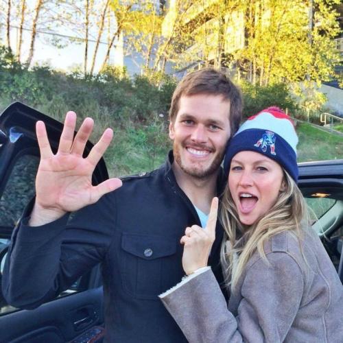 Tom Brady and wife Gisele. (Via Facebook)