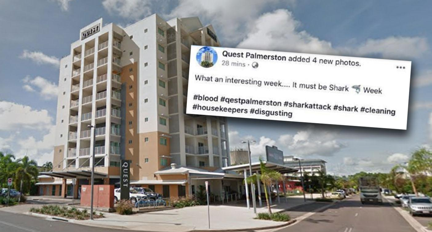 Darwin hotel Quest Palmerston shames guest for bloody sheets