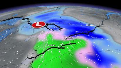 Widespread snow, heavy rain to arrive late Monday